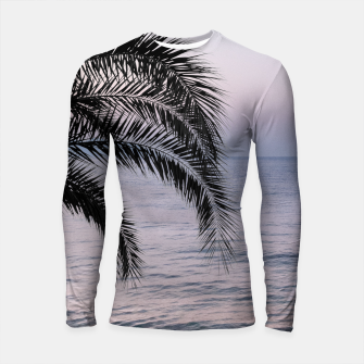 Thumbnail image of Palm & Ocean Dream #3 #tropical #pastel #wall #decor #art Longsleeve rashguard, Live Heroes