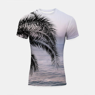 Thumbnail image of Palm & Ocean Dream #3 #tropical #pastel #wall #decor #art Shortsleeve rashguard, Live Heroes