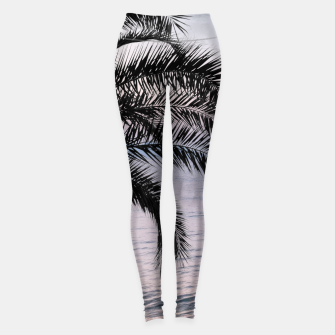 Thumbnail image of Palm & Ocean Dream #3 #tropical #pastel #wall #decor #art Leggings, Live Heroes