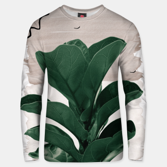 Thumbnail image of Fiddle Leaf Abstract - Naturelle #1 #minimal #wall #decor #art  Unisex sweatshirt, Live Heroes