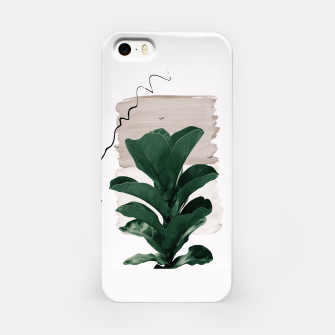 Thumbnail image of Fiddle Leaf Abstract - Naturelle #1 #minimal #wall #decor #art  iPhone-Hülle, Live Heroes