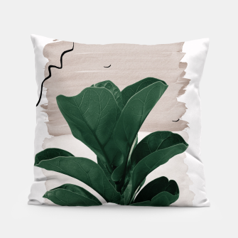 Miniaturka Fiddle Leaf Abstract - Naturelle #1 #minimal #wall #decor #art  Kissen, Live Heroes