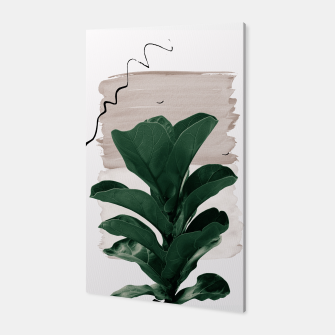Miniaturka Fiddle Leaf Abstract - Naturelle #1 #minimal #wall #decor #art  Canvas, Live Heroes