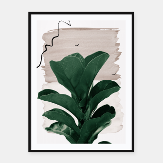 Thumbnail image of Fiddle Leaf Abstract - Naturelle #1 #minimal #wall #decor #art  Plakat mit rahmen, Live Heroes