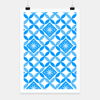 Thumbnail image of Flowery Pattern in blue Poster, Live Heroes