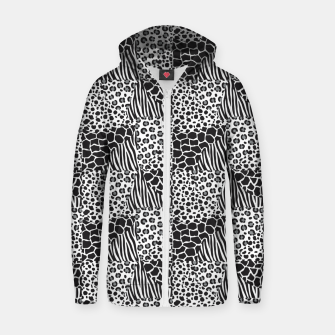 Miniature de image de Wildlife print Zip up hoodie, Live Heroes