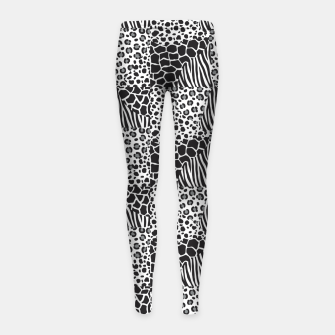 Miniatur Wildlife print Girl's leggings, Live Heroes