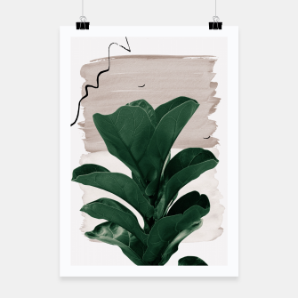 Miniaturka Fiddle Leaf Abstract - Naturelle #1 #minimal #wall #decor #art  Plakat, Live Heroes
