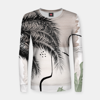 Thumbnail image of Banana Palms Abstract - Naturelle #1 #minimal #wall #decor #art Frauen sweatshirt, Live Heroes