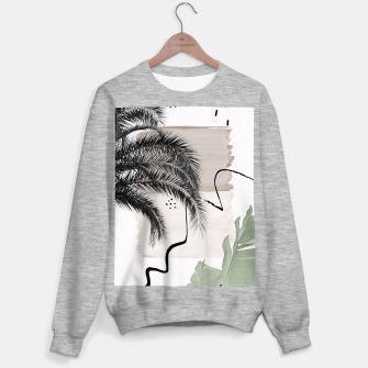 Thumbnail image of Banana Palms Abstract - Naturelle #1 #minimal #wall #decor #art Sweatshirt regulär, Live Heroes
