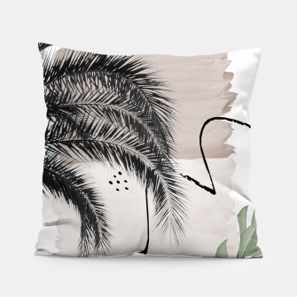 Thumbnail image of Banana Palms Abstract - Naturelle #1 #minimal #wall #decor #art Kissen, Live Heroes