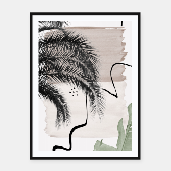 Thumbnail image of Banana Palms Abstract - Naturelle #1 #minimal #wall #decor #art Plakat mit rahmen, Live Heroes