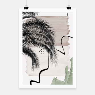 Miniaturka Banana Palms Abstract - Naturelle #1 #minimal #wall #decor #art Plakat, Live Heroes