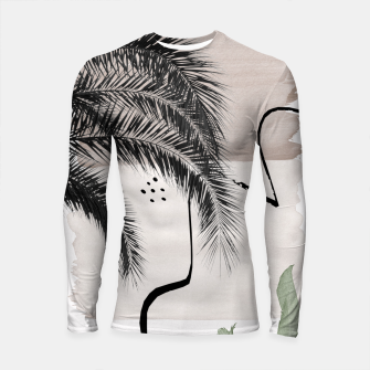 Thumbnail image of Banana Palms Abstract - Naturelle #1 #minimal #wall #decor #art Longsleeve rashguard, Live Heroes