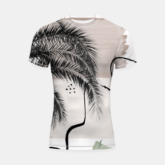Thumbnail image of Banana Palms Abstract - Naturelle #1 #minimal #wall #decor #art Shortsleeve rashguard, Live Heroes