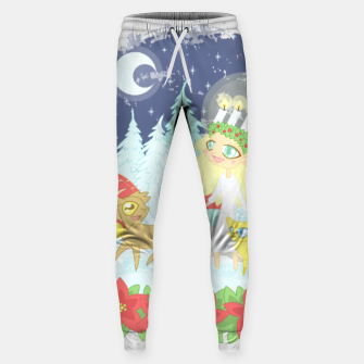 Thumbnail image of Lusse Bride, Saffron the Cat, and the Yule Goats Sweatpants, Live Heroes