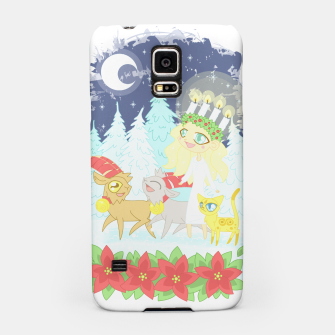 Thumbnail image of Lusse Bride, Saffron the Cat, and the Yule Goats Samsung Case, Live Heroes