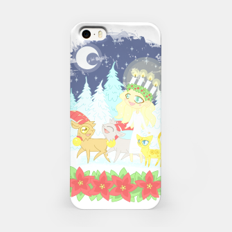 Thumbnail image of Lusse Bride, Saffron the Cat, and the Yule Goats iPhone Case, Live Heroes