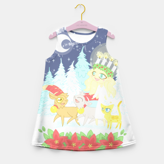 Thumbnail image of Lusse Bride, Saffron the Cat, and the Yule Goats Girl's summer dress, Live Heroes