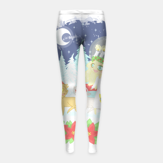 Thumbnail image of Lusse Bride, Saffron the Cat, and the Yule Goats Girl's leggings, Live Heroes