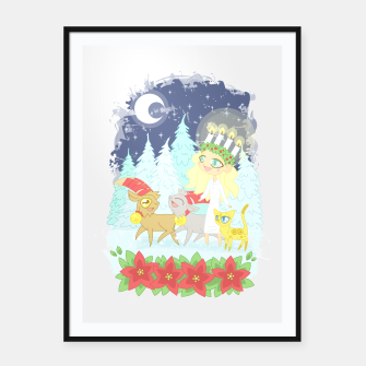 Miniaturka Lusse Bride, Saffron the Cat, and the Yule Goats Framed poster, Live Heroes