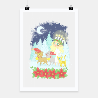 Miniaturka Lusse Bride, Saffron the Cat, and the Yule Goats Poster, Live Heroes
