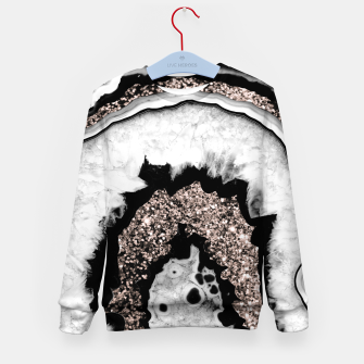 Miniature de image de Gray Black White Agate with Rose Gold Glitter #1a #gem #decor #art  Kindersweatshirt, Live Heroes