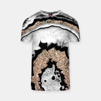 Miniaturka Gray Black White Agate with Gold Glitter #1a #gem #decor #art T-Shirt, Live Heroes