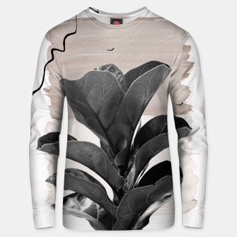 Miniaturka Fiddle Leaf Abstract - Naturelle #2 #minimal #wall #decor #art  Unisex sweatshirt, Live Heroes