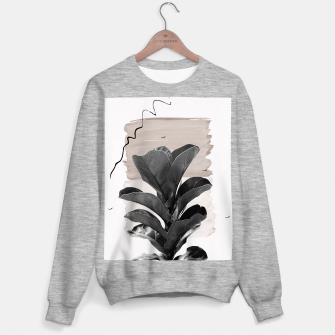 Miniature de image de Fiddle Leaf Abstract - Naturelle #2 #minimal #wall #decor #art  Sweatshirt regulär, Live Heroes