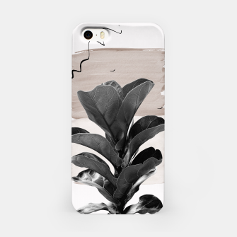 Miniature de image de Fiddle Leaf Abstract - Naturelle #2 #minimal #wall #decor #art  iPhone-Hülle, Live Heroes
