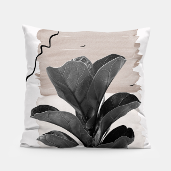 Miniature de image de Fiddle Leaf Abstract - Naturelle #2 #minimal #wall #decor #art  Kissen, Live Heroes