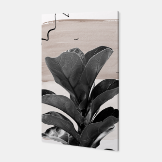 Miniaturka Fiddle Leaf Abstract - Naturelle #2 #minimal #wall #decor #art  Canvas, Live Heroes