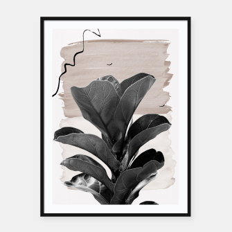 Miniaturka Fiddle Leaf Abstract - Naturelle #2 #minimal #wall #decor #art  Plakat mit rahmen, Live Heroes