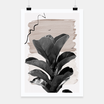 Miniaturka Fiddle Leaf Abstract - Naturelle #2 #minimal #wall #decor #art  Plakat, Live Heroes