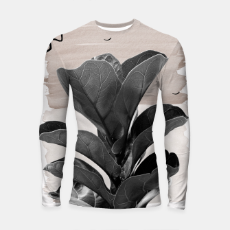 Miniature de image de Fiddle Leaf Abstract - Naturelle #2 #minimal #wall #decor #art  Longsleeve rashguard, Live Heroes