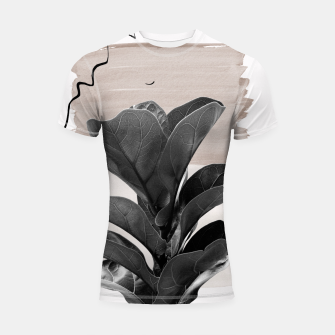 Miniature de image de Fiddle Leaf Abstract - Naturelle #2 #minimal #wall #decor #art  Shortsleeve rashguard, Live Heroes