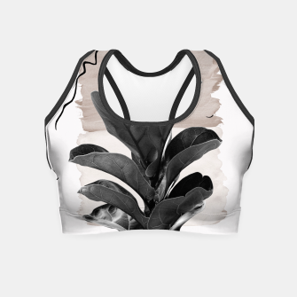 Miniature de image de Fiddle Leaf Abstract - Naturelle #2 #minimal #wall #decor #art  Crop Top, Live Heroes