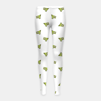 Imagen en miniatura de Werewolf Head Creepy Drawing Pattern Girl's leggings, Live Heroes