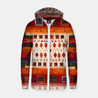 Thumbnail image of Colored Traditional Moroccan Vintage Bohemian Artwork Zip up hoodie, Live Heroes