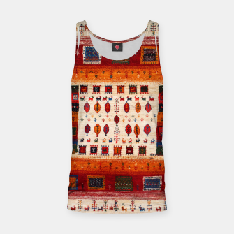 Thumbnail image of Colored Traditional Moroccan Vintage Bohemian Artwork Tank Top, Live Heroes