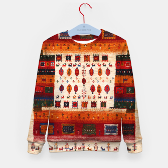 Thumbnail image of Colored Traditional Moroccan Vintage Bohemian Artwork Kid's sweater, Live Heroes