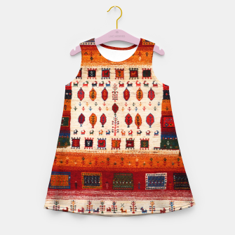 Thumbnail image of Colored Traditional Moroccan Vintage Bohemian Artwork Girl's summer dress, Live Heroes