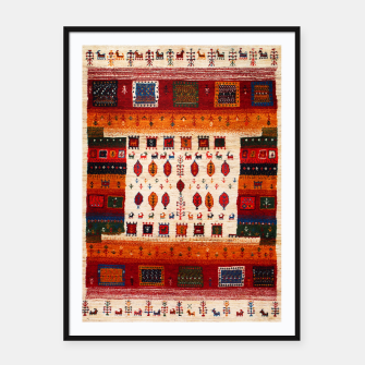 Thumbnail image of Colored Traditional Moroccan Vintage Bohemian Artwork Framed poster, Live Heroes