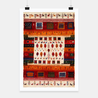 Thumbnail image of Colored Traditional Moroccan Vintage Bohemian Artwork Poster, Live Heroes
