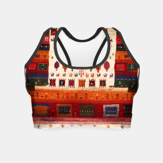 Miniaturka Colored Traditional Moroccan Vintage Bohemian Artwork Crop Top, Live Heroes
