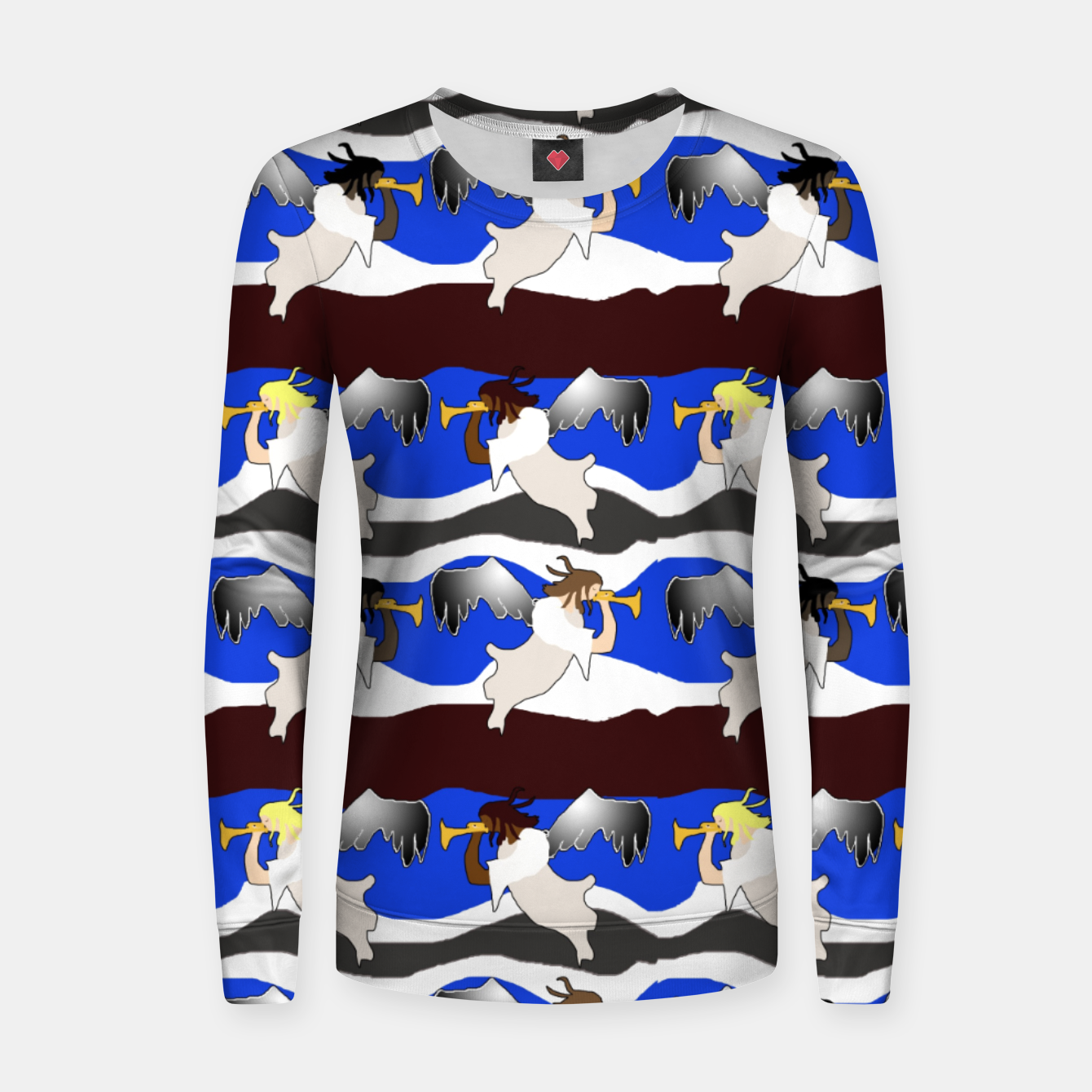 Image of Angels Pattern Women sweater - Live Heroes