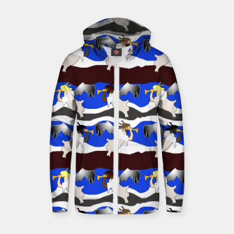 Angels Pattern Zip up hoodie thumbnail image
