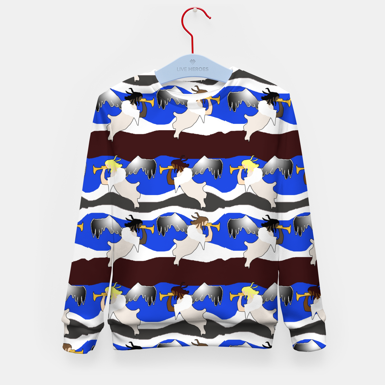 Image of Angels Pattern Kid's sweater - Live Heroes