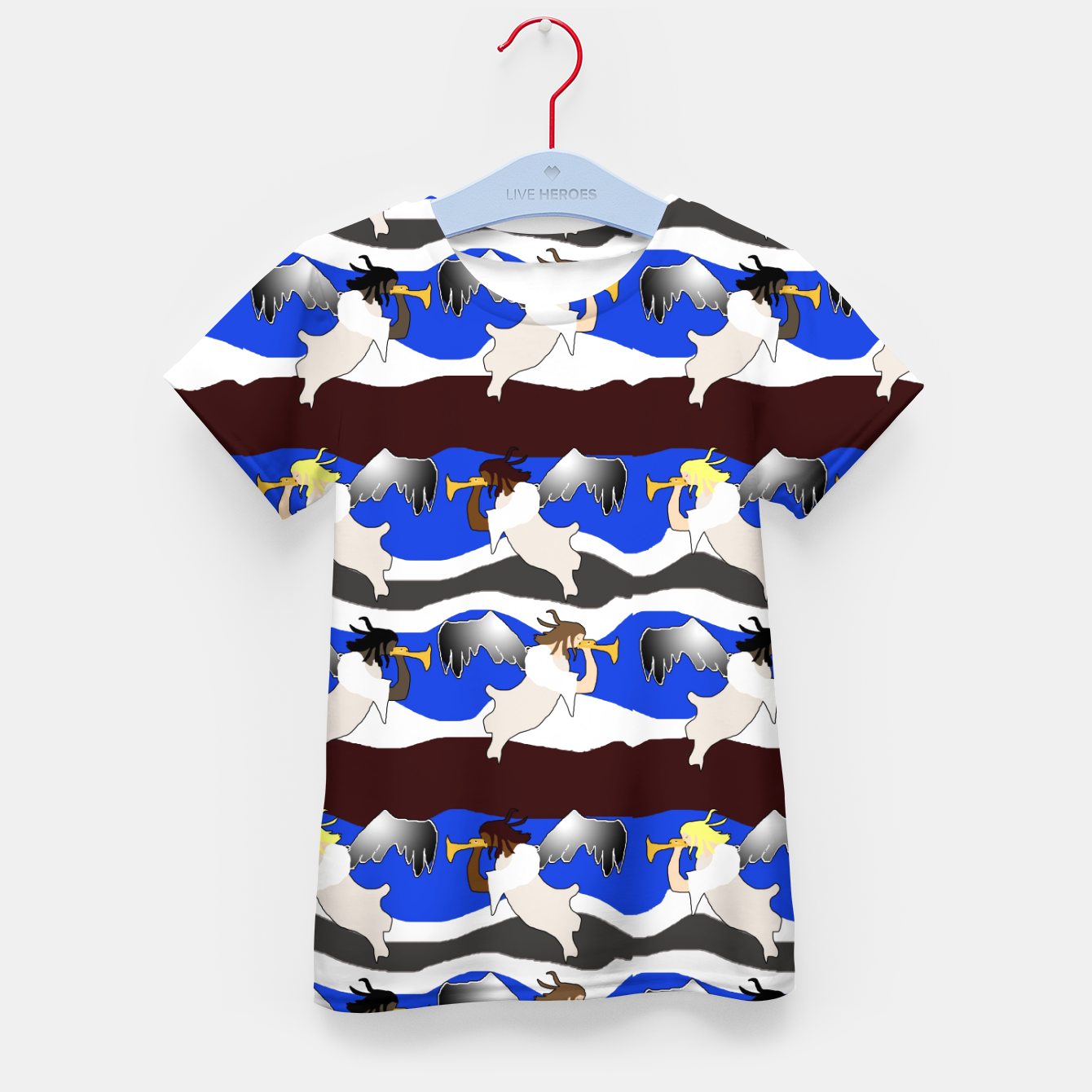 Image of Angels Pattern Kid's t-shirt - Live Heroes
